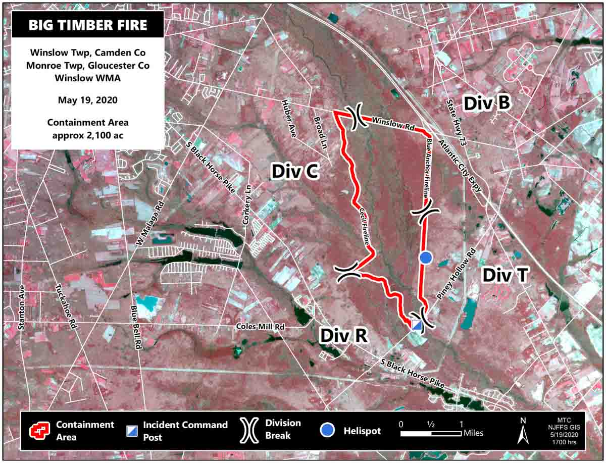 map Big Timber Fire New Jersey