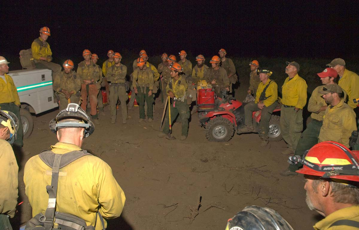 Briefing on Springs Fire