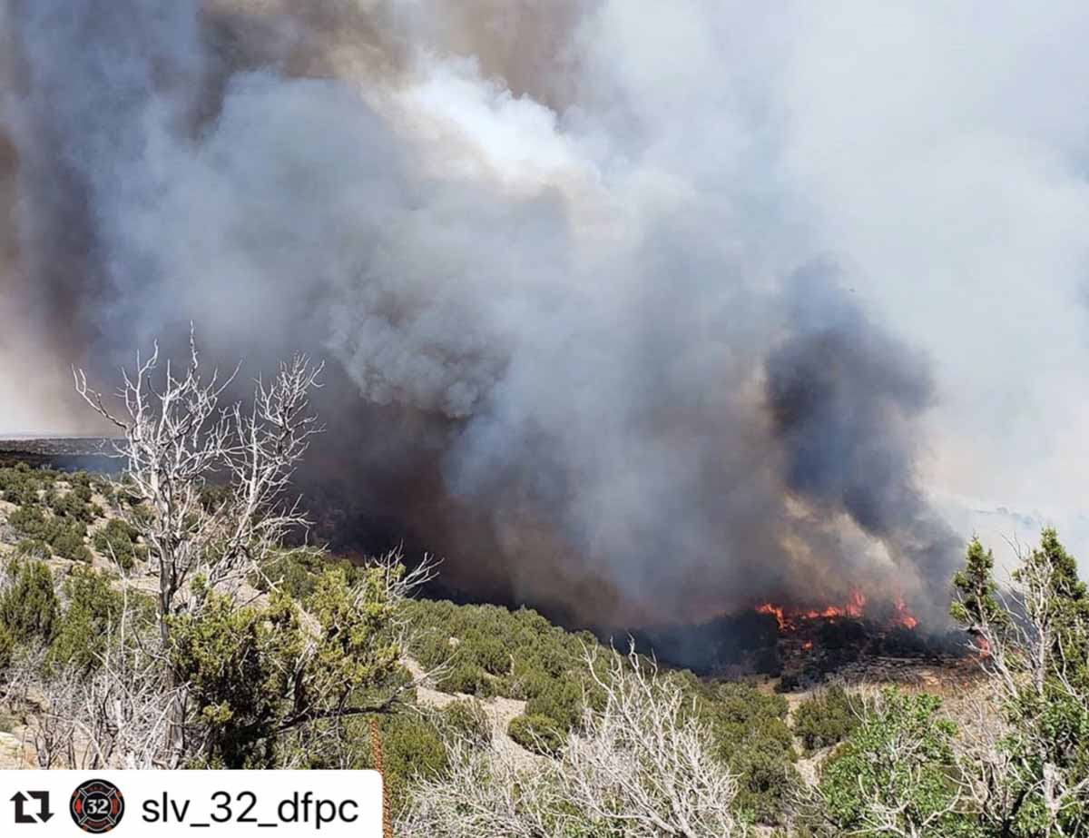 Cherry Canyon Fire wildfire Colorado