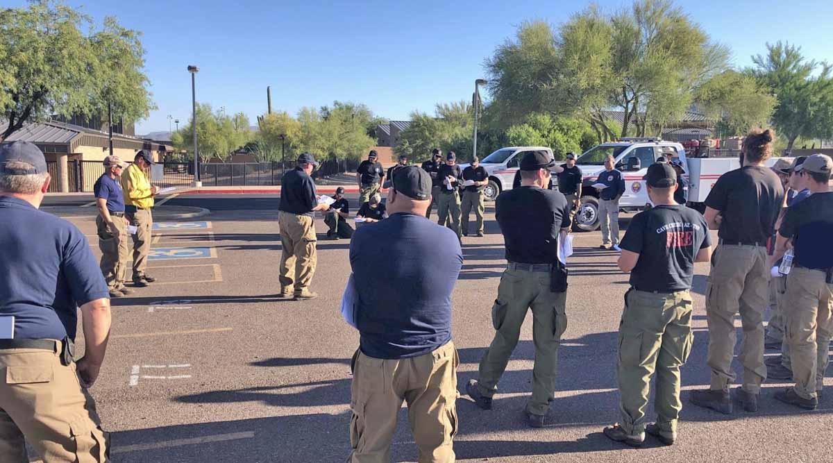 East Desert Fire firefighters wildfire Arizona Phoenix