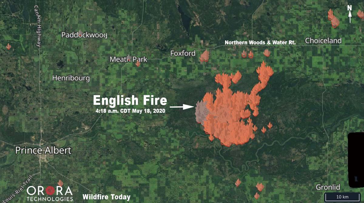 map English Fire Prince Albert Saskatchewan