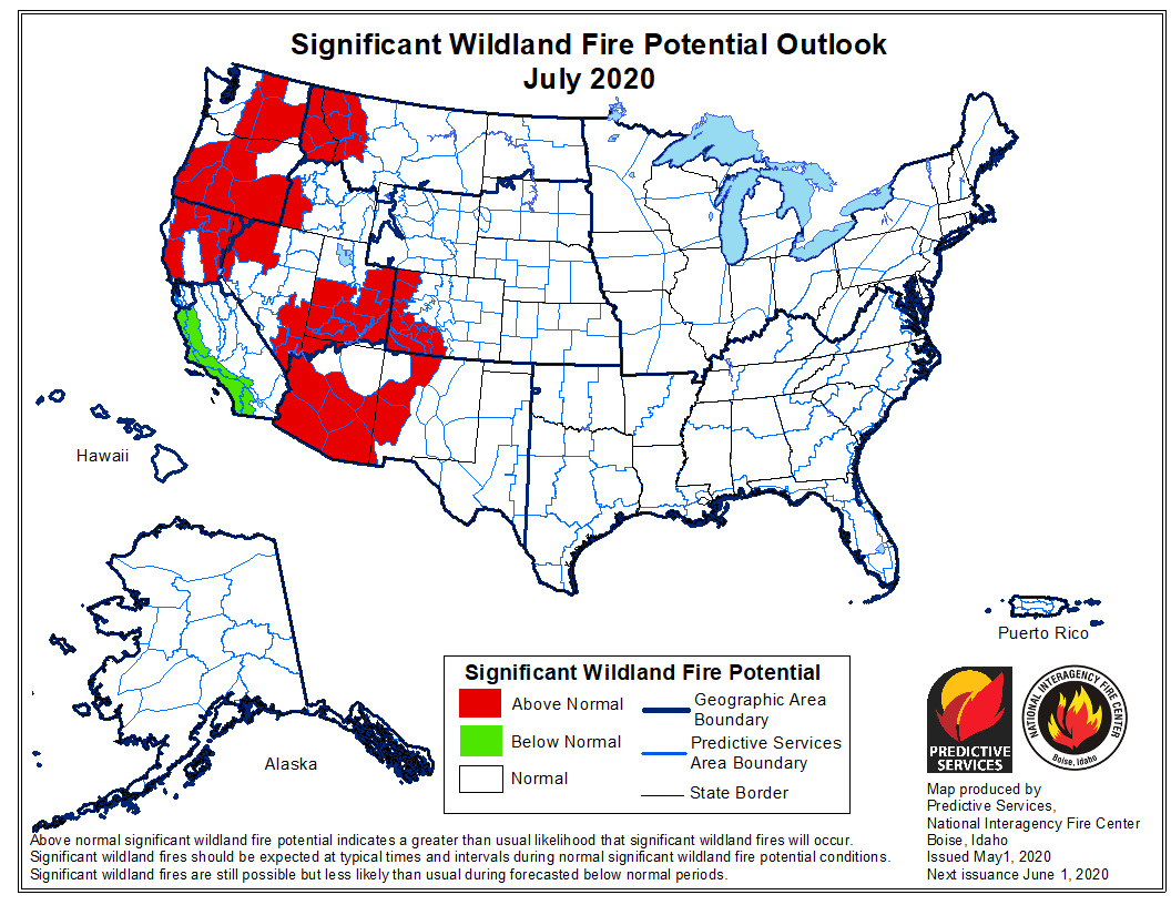 July wildfire outlook