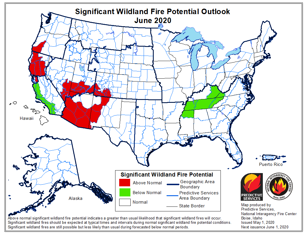 June wildfire outlook