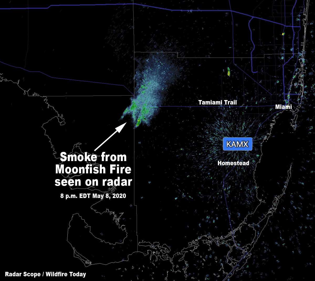 radar Map Moonfish Fire Big Cypress National Preserve