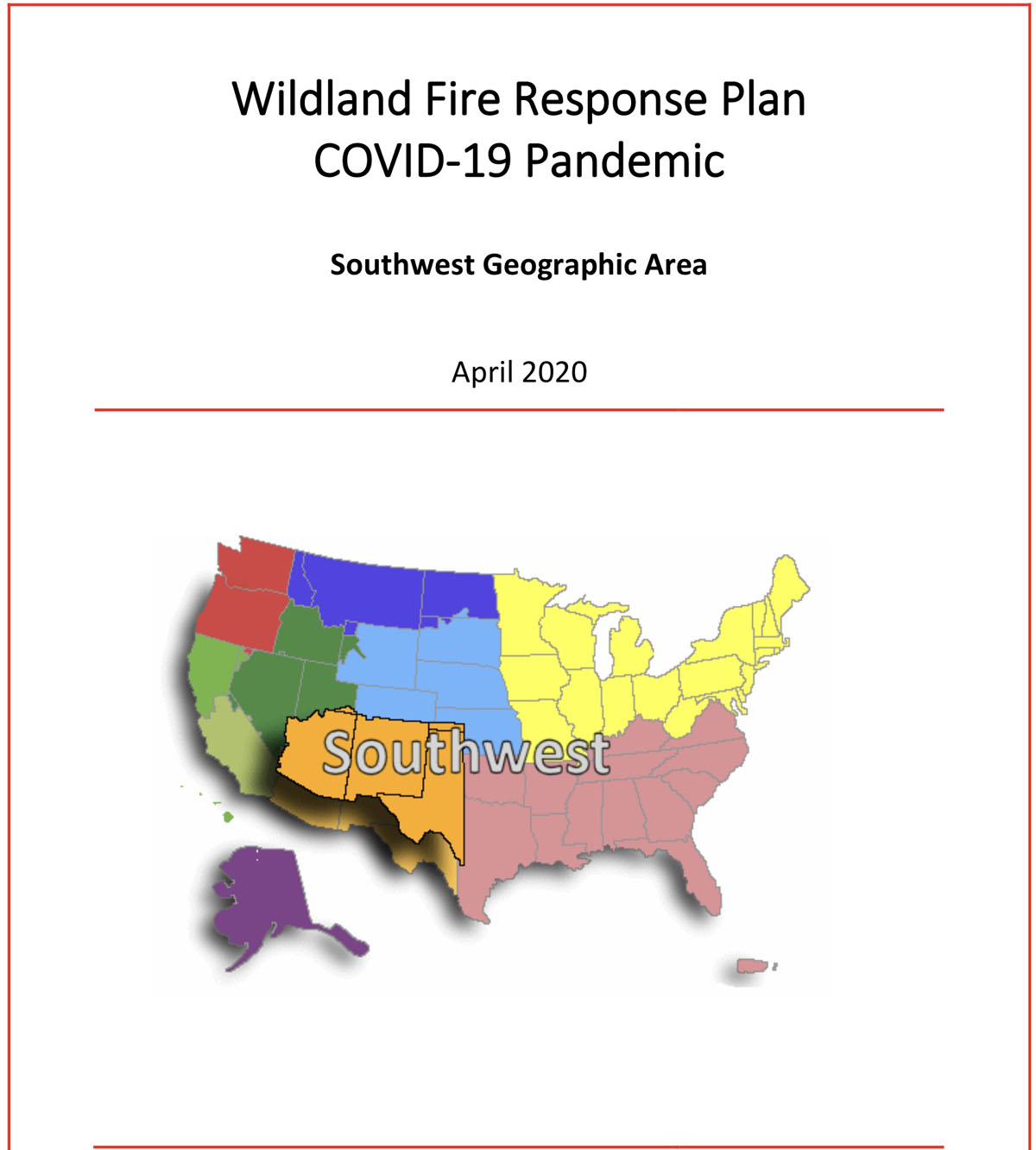 SW Area Pandemic Plan wildland fire