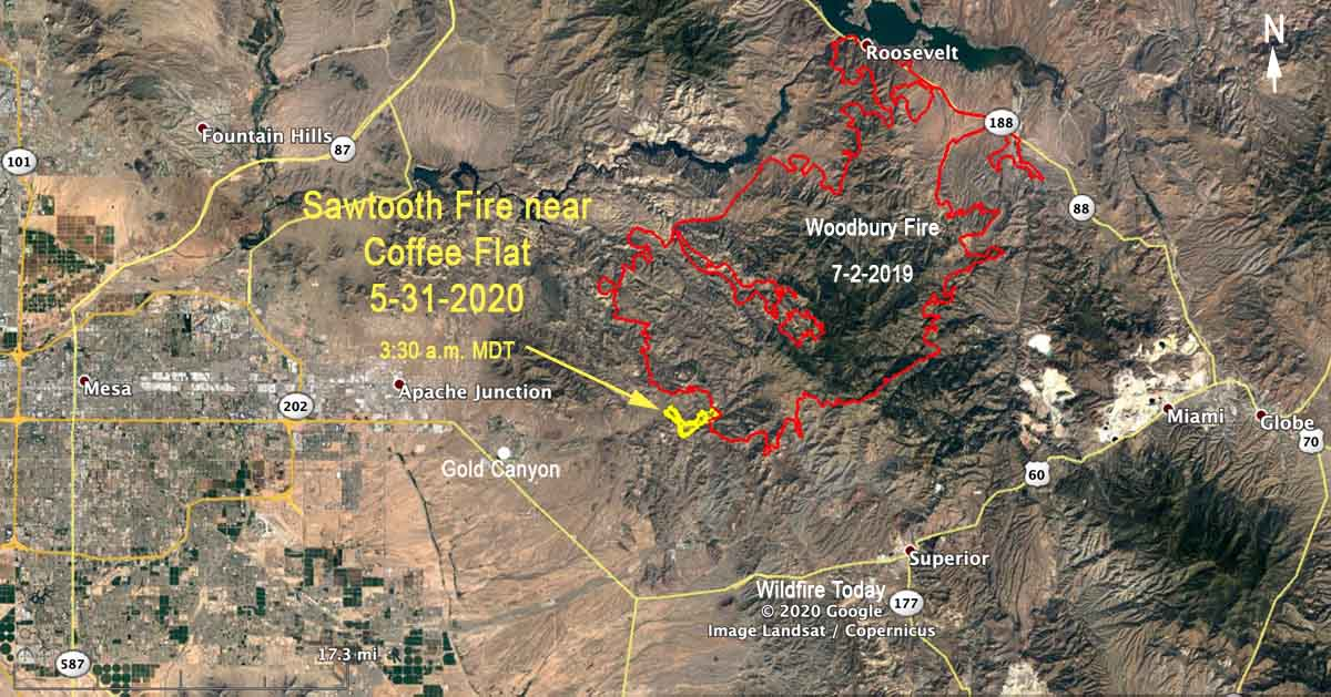 map Sawtooth Fire