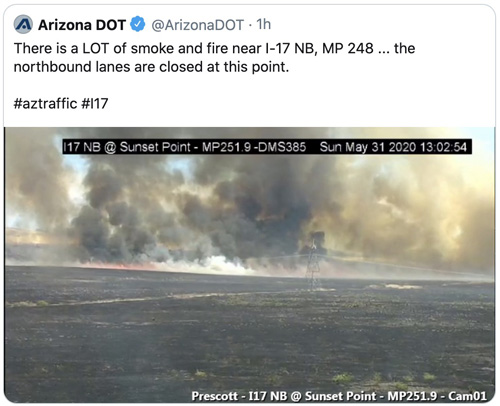 Sunset Fire Arizonas