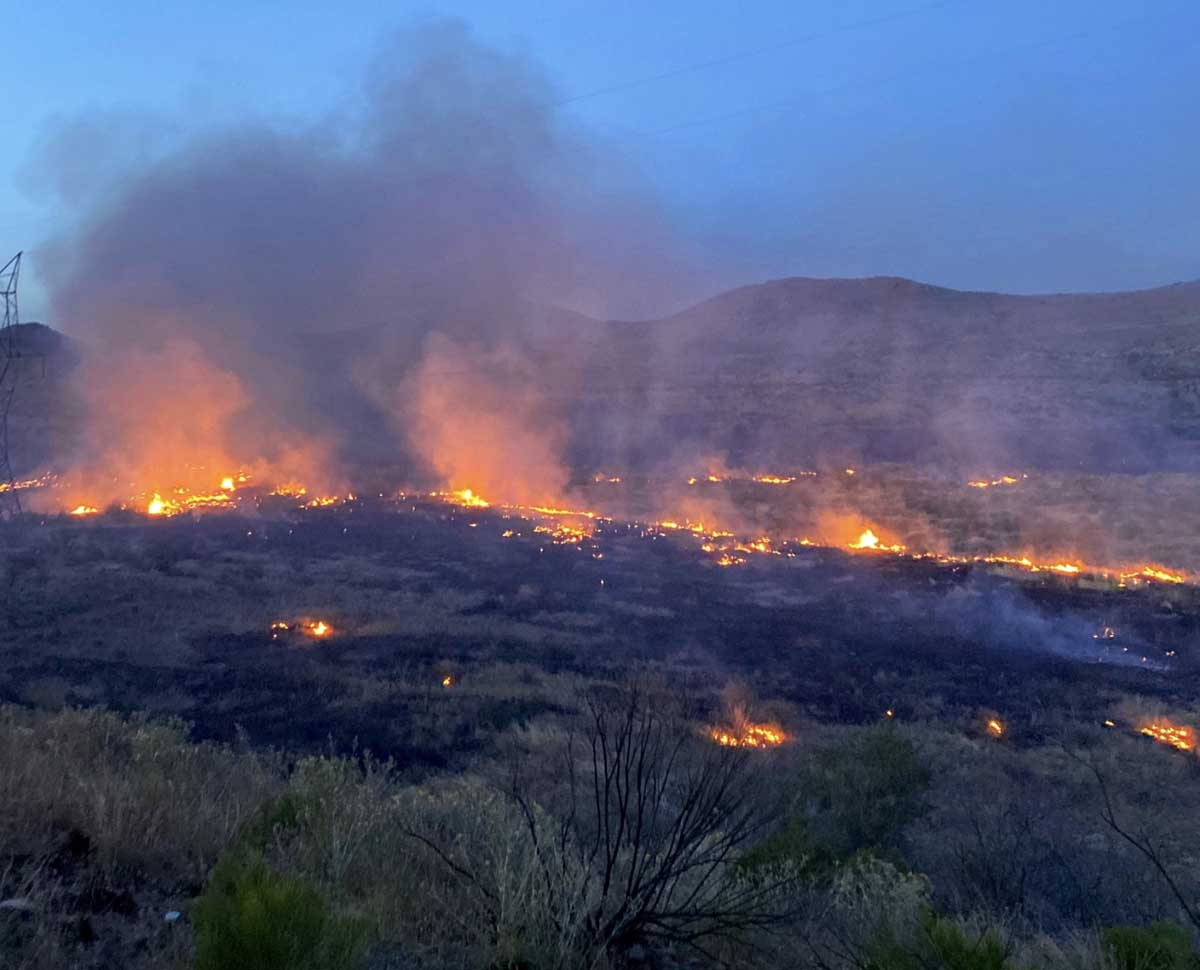Sunset Fire Arizona Interstate 17