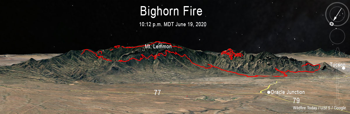 3-D map of the Bighorn Fire