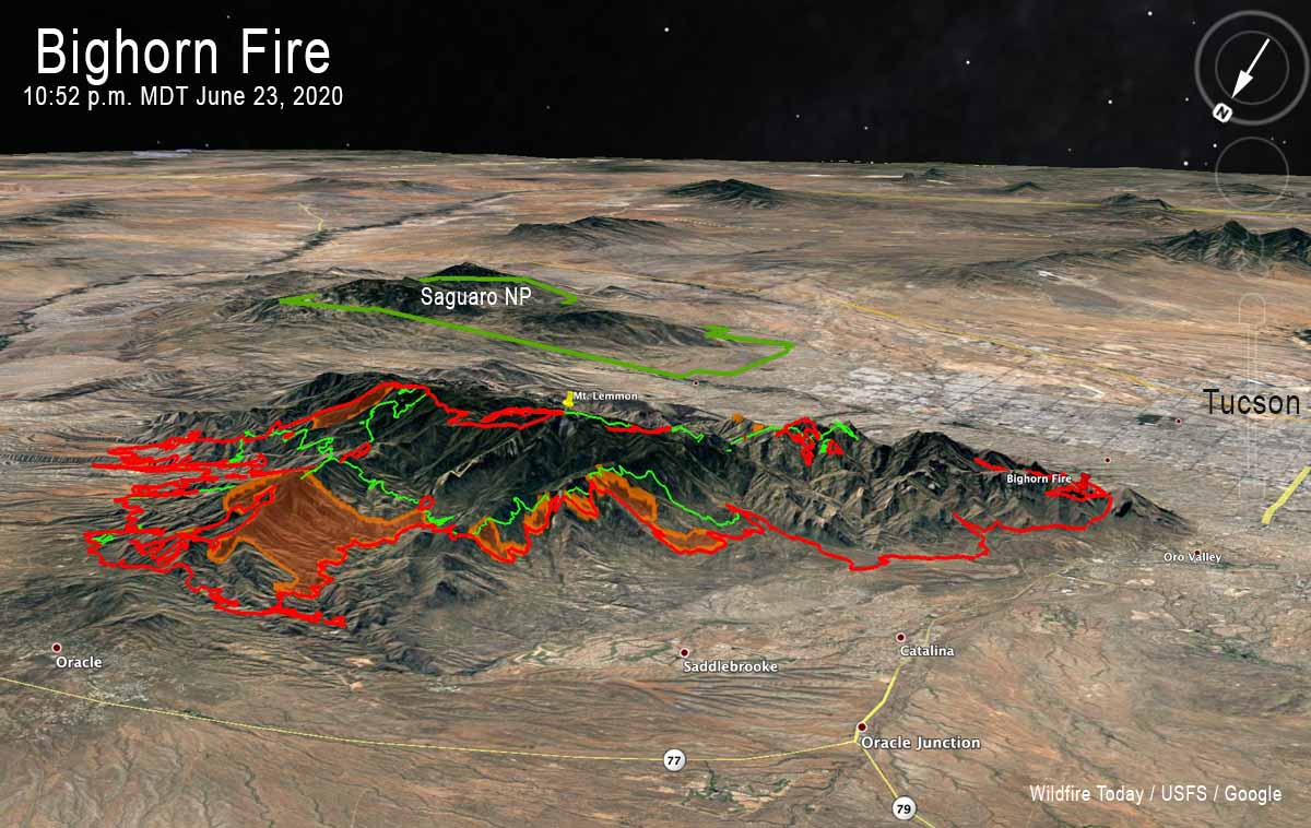 Bighorn Fire map Arizona