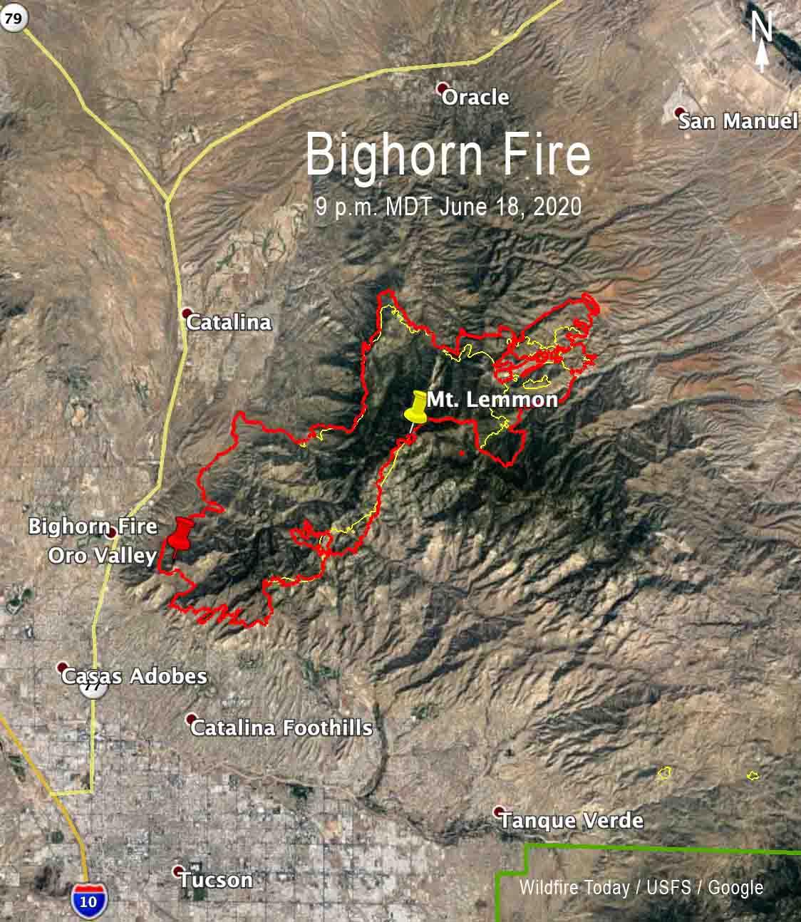 Bighorn Fire Map