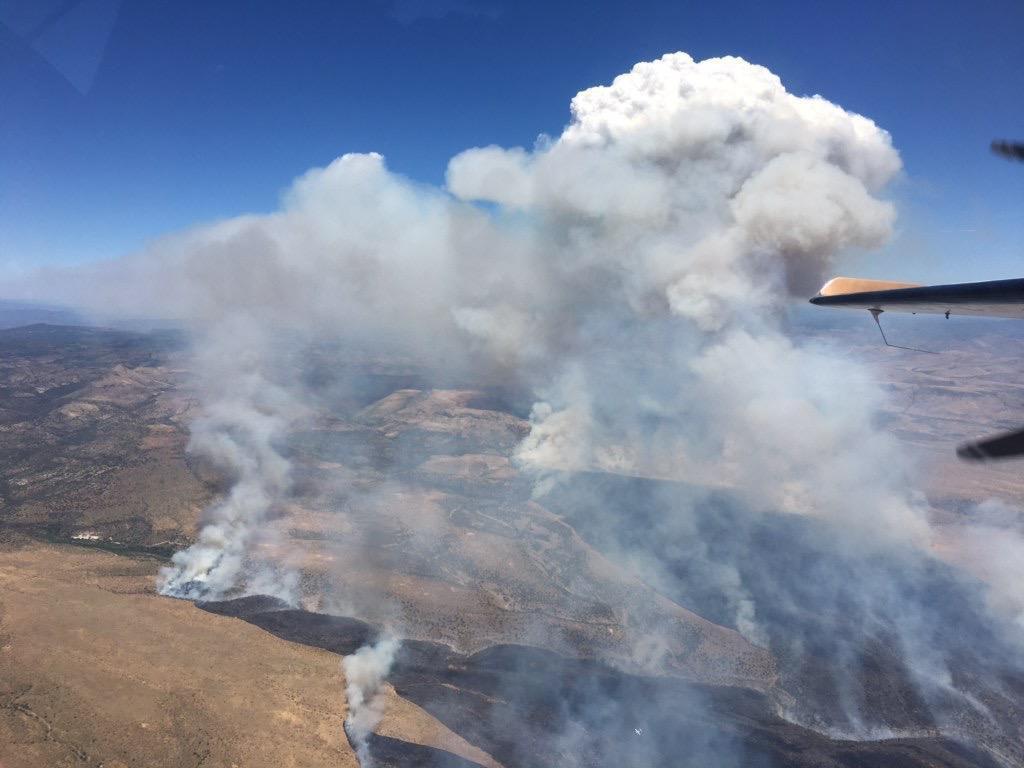 Blue River Fire northeast of San Carlos, Arizona