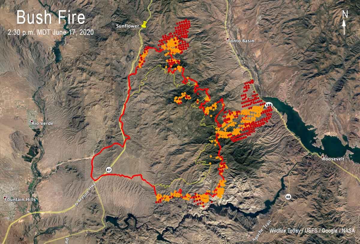 Bush Fire map Phoenix