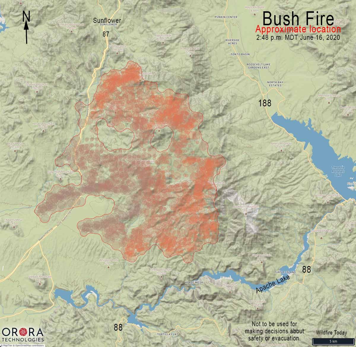 map Bush Fire Arizona Phoenix