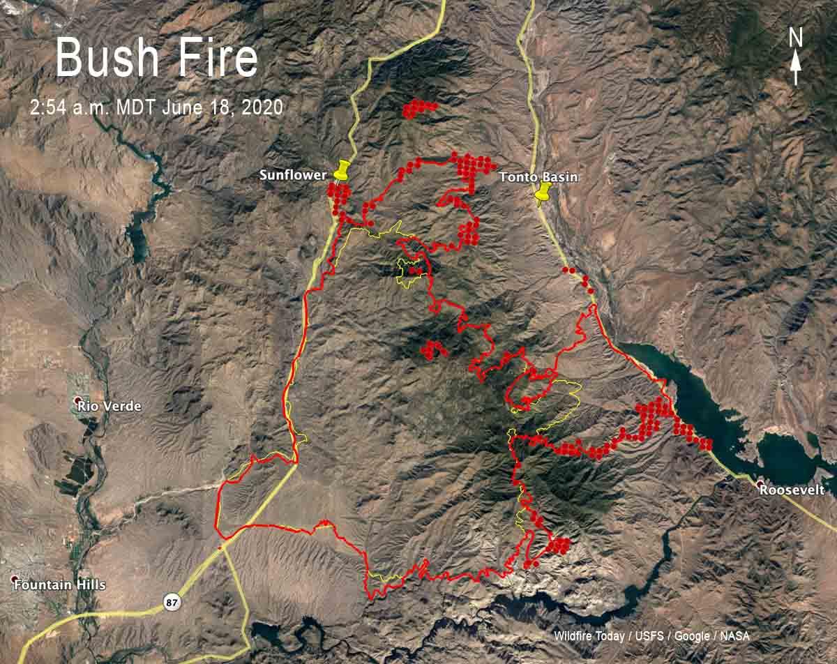 Bush Fire Map 254 am MDT June 18, 2020