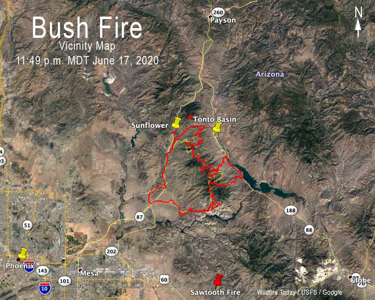 Bush Fire Vicinity Map
