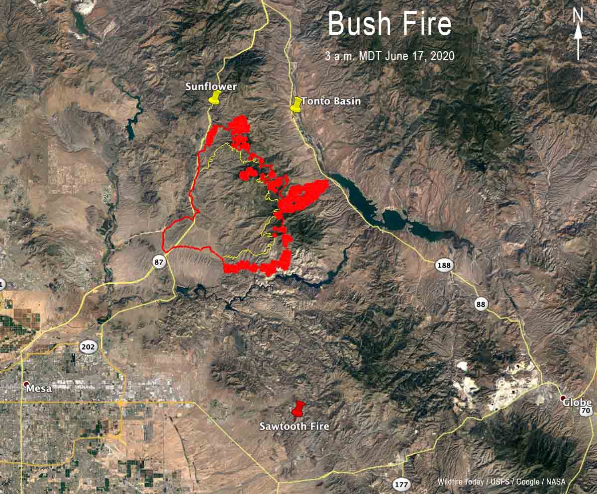 Map of the Bush Fire
