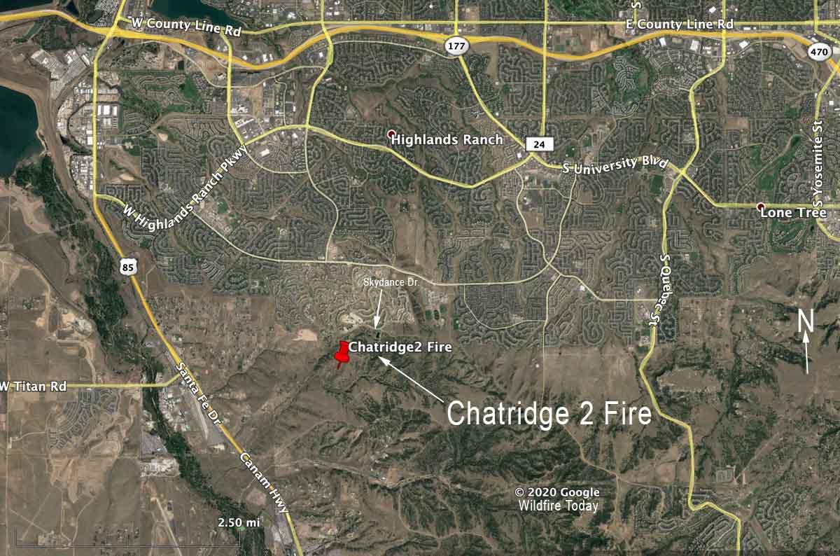 Chatridge 2 Fire Denver map