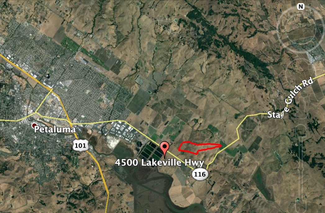 Map Lakeville Fire Petaluma Calif