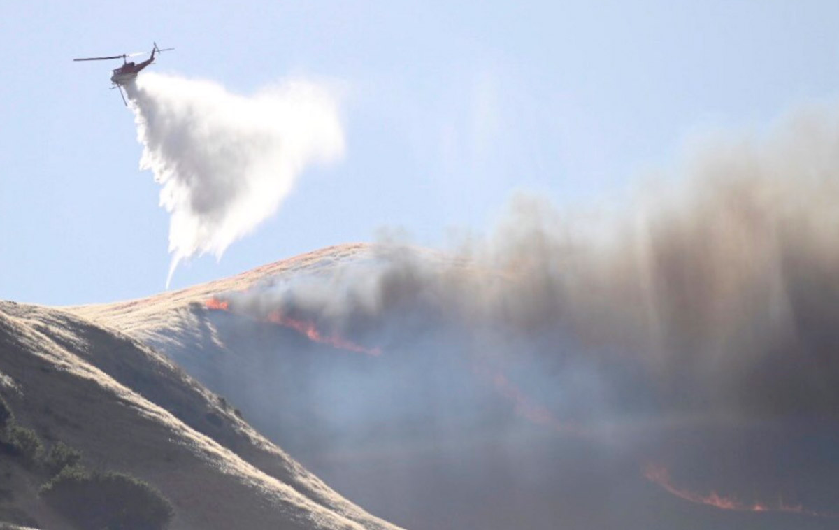 Helicopter drops on the Lime Fire