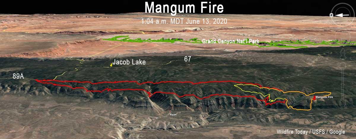 Mangum Fire map