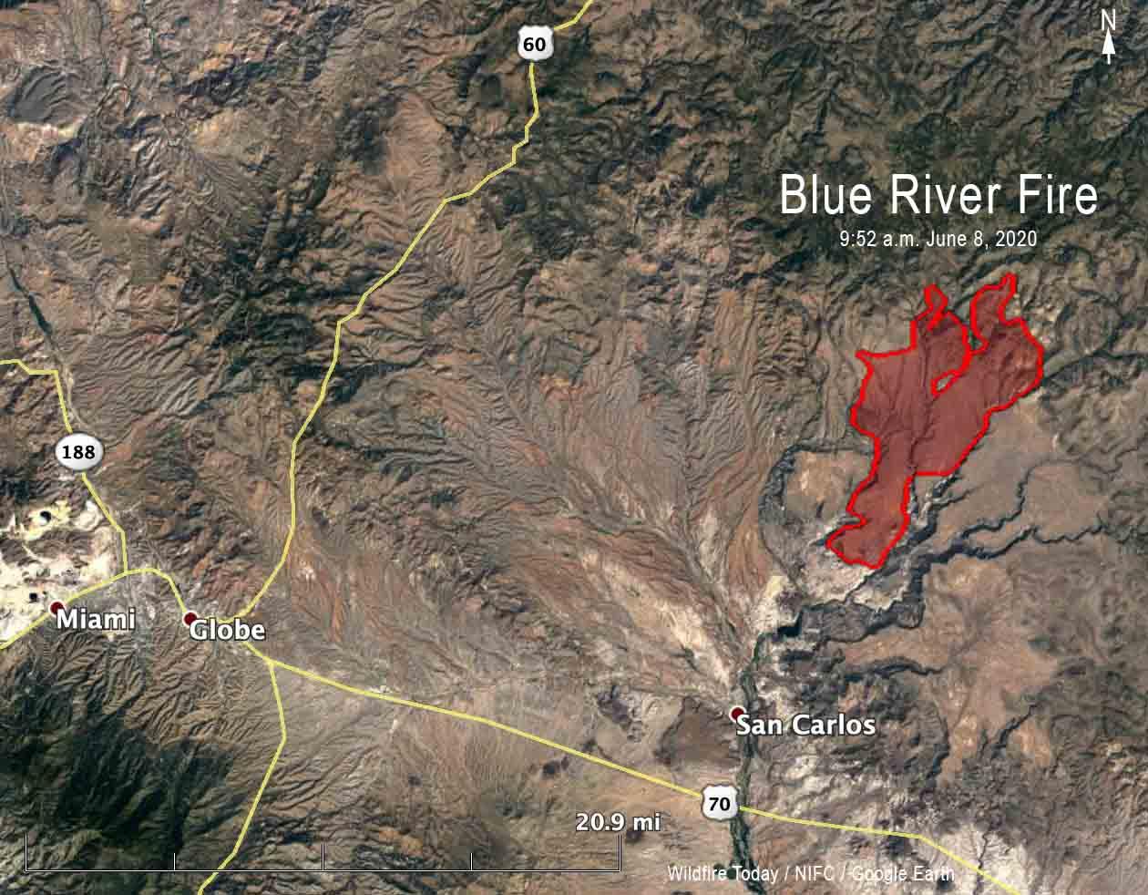 Map Blue River Fire