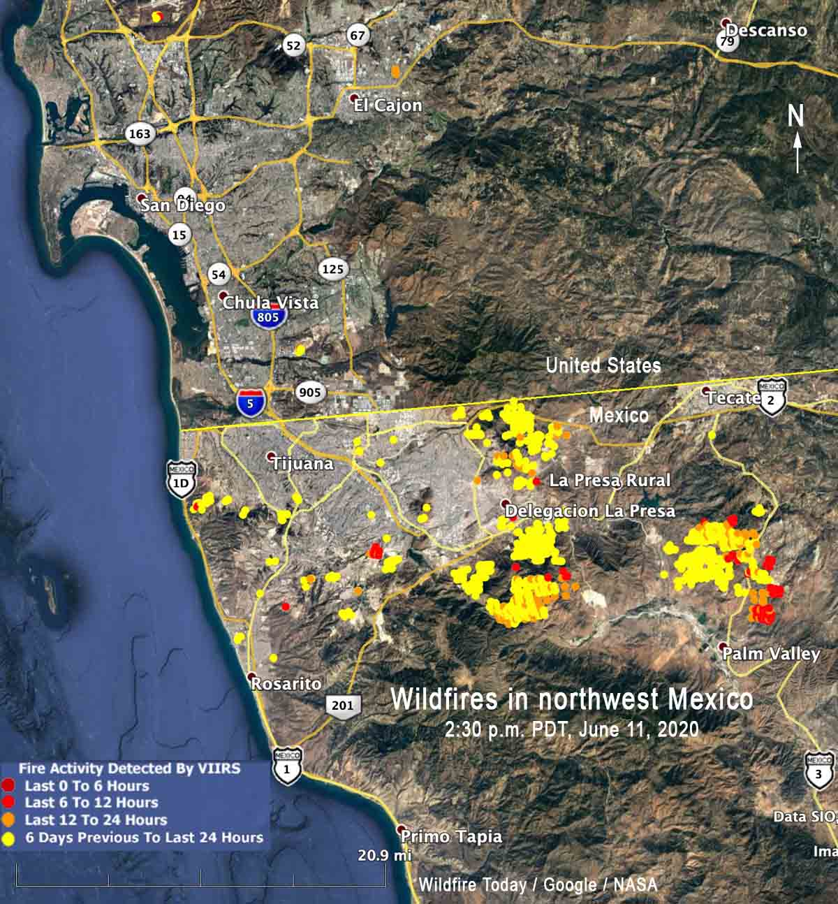 wildfires in northwest Mexico fires
