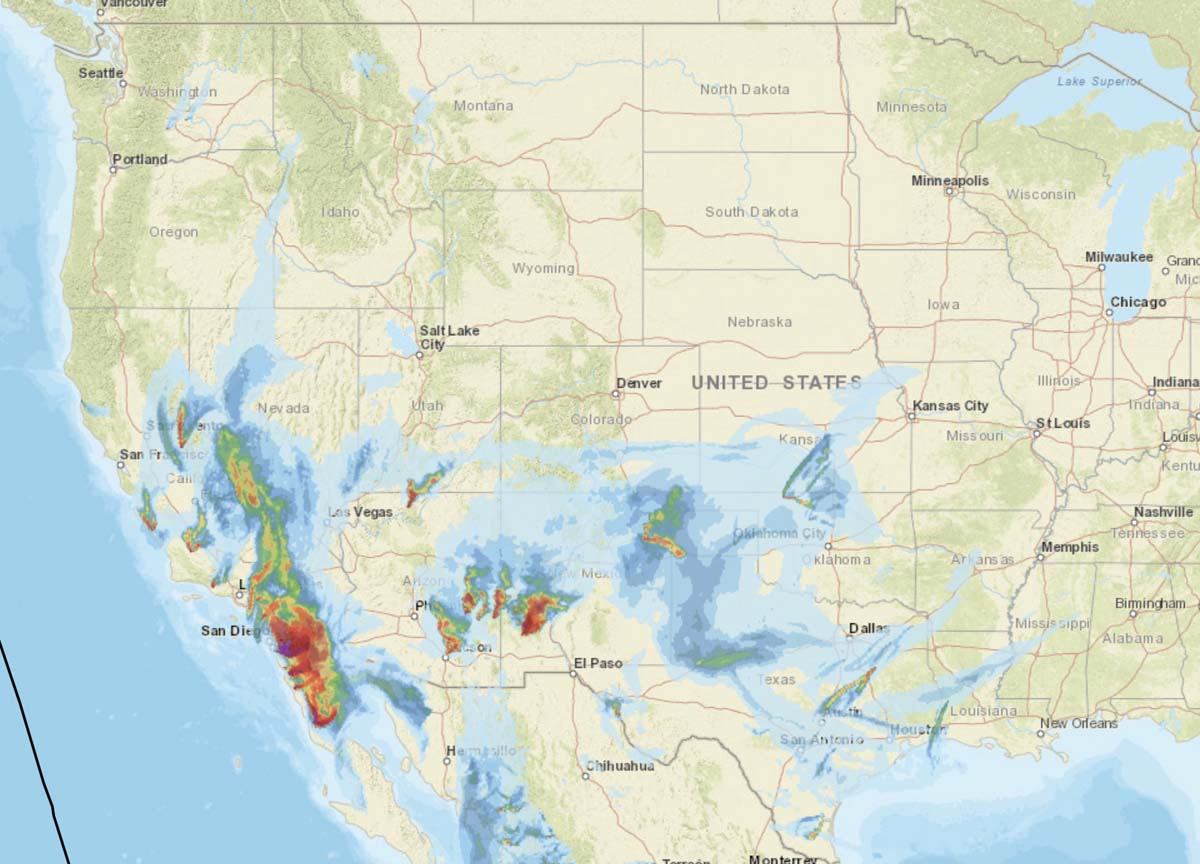 forecast wildfire smoke map
