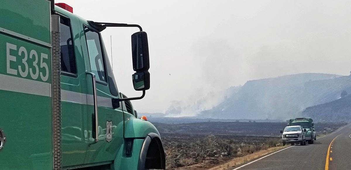 Caldwell Fire Lassen Volcanic Highway