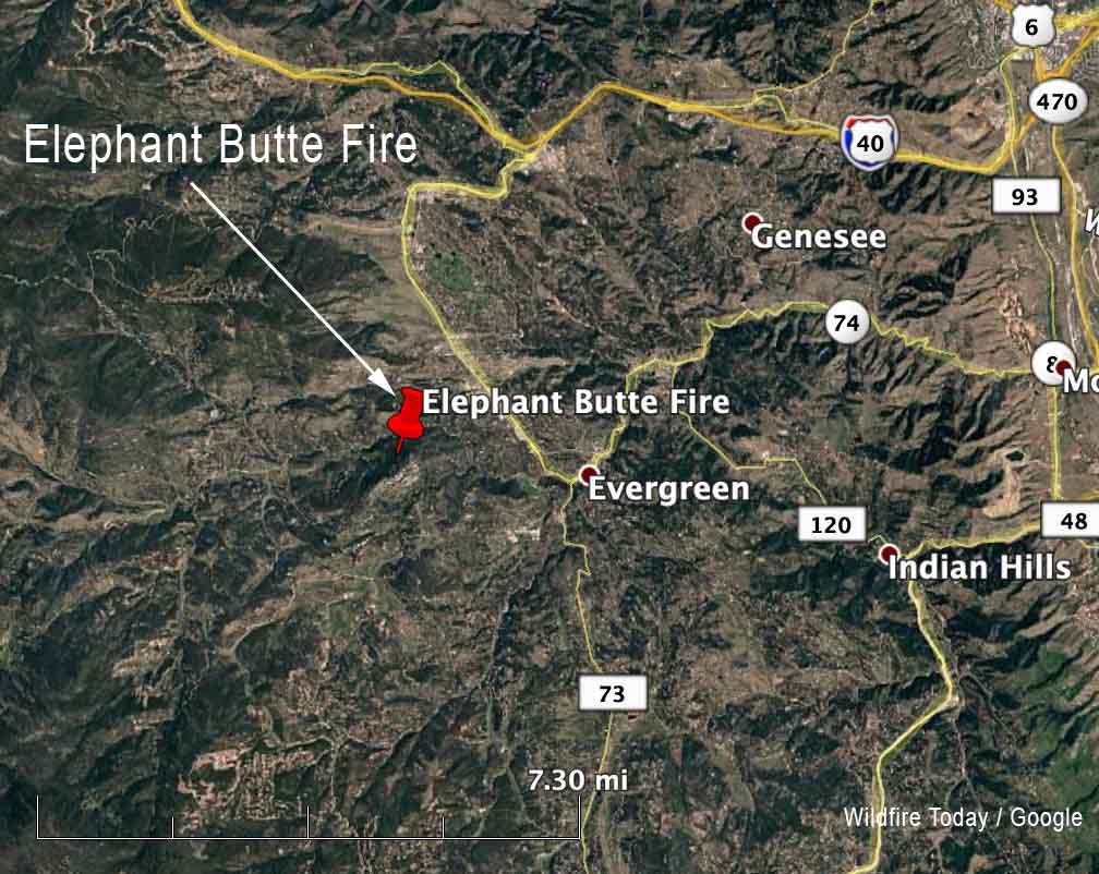 Elephant Butte Fire map