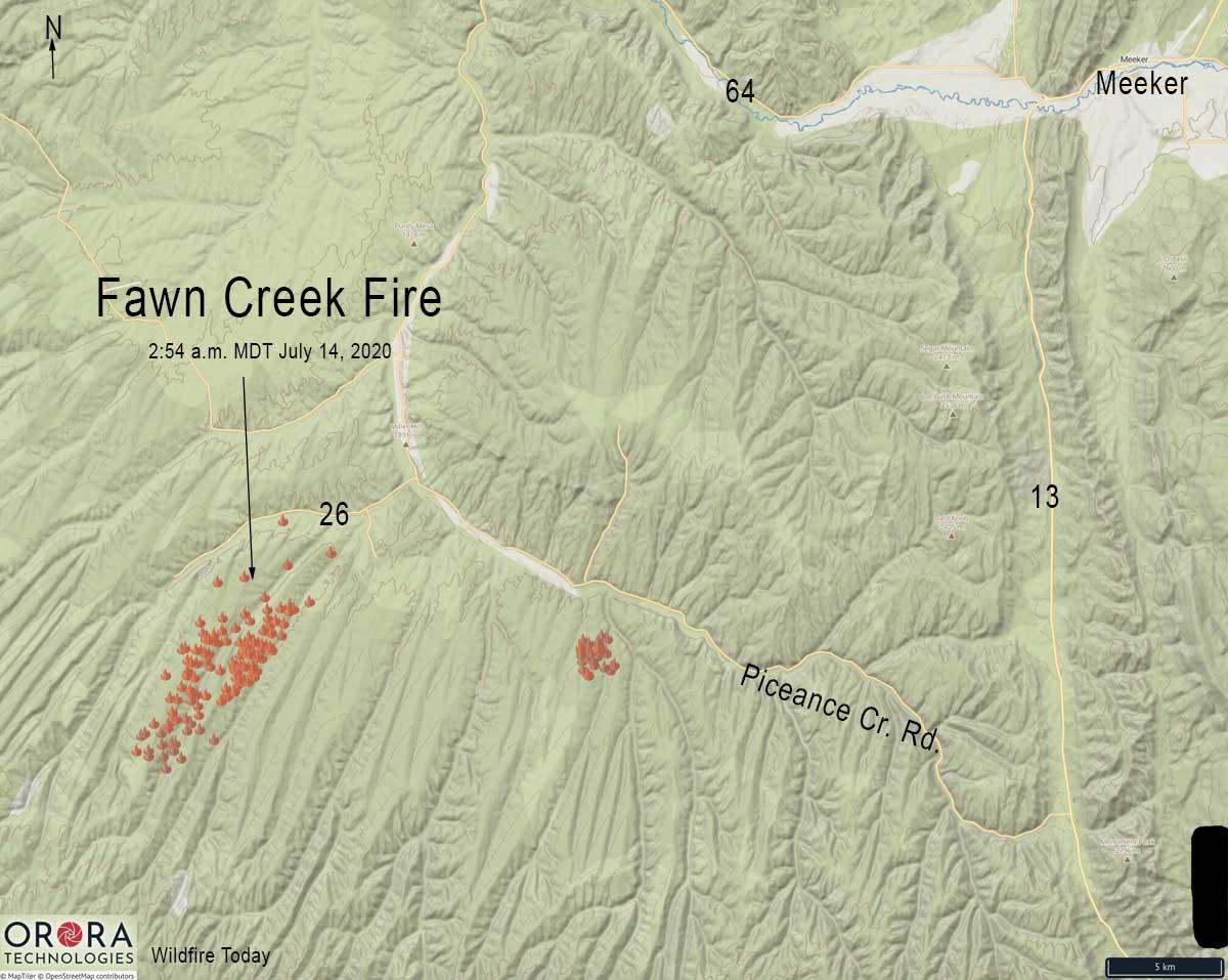 Fawn Creek Fire map