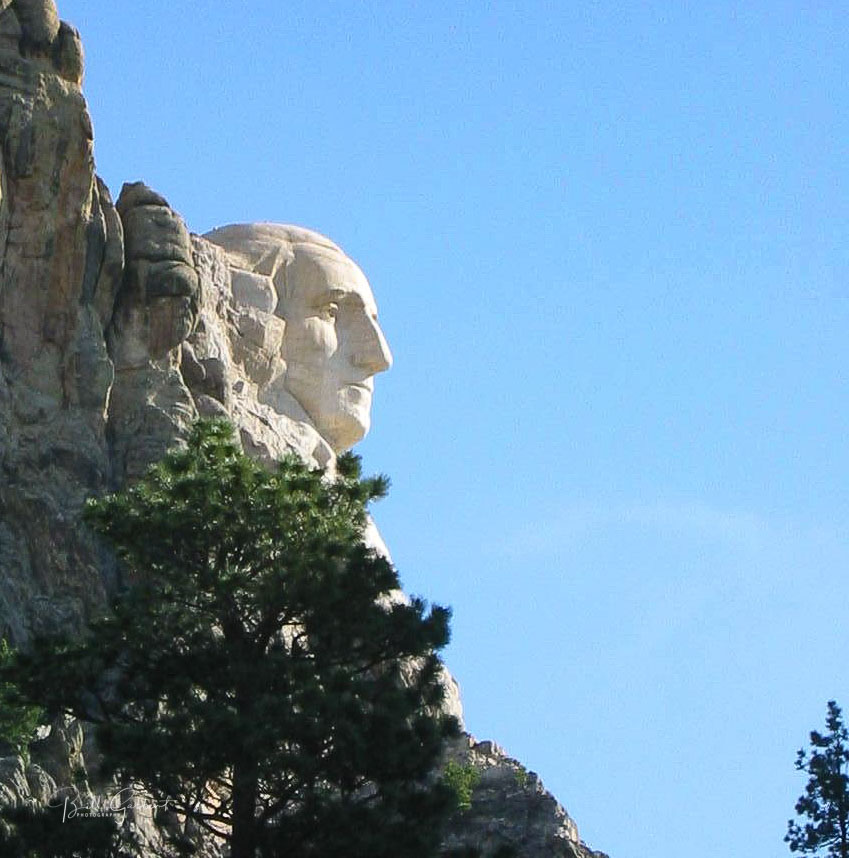 George Washington profile on Mount Rushmore
