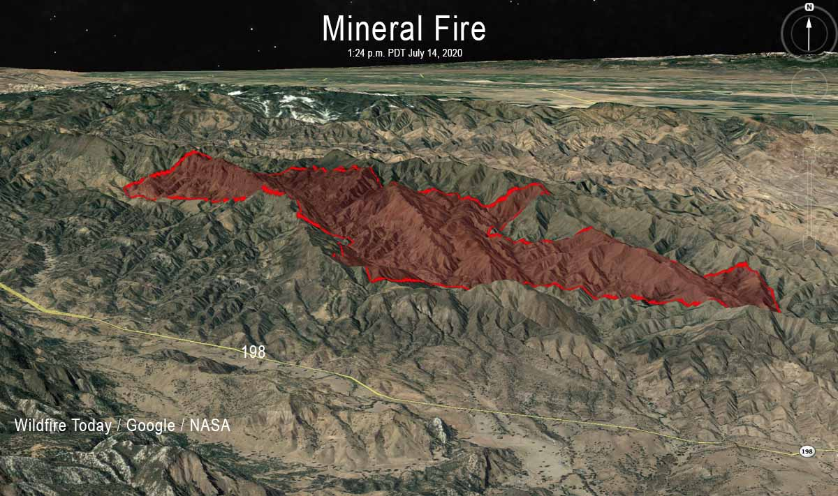 map Mineral Fire Coalinga California