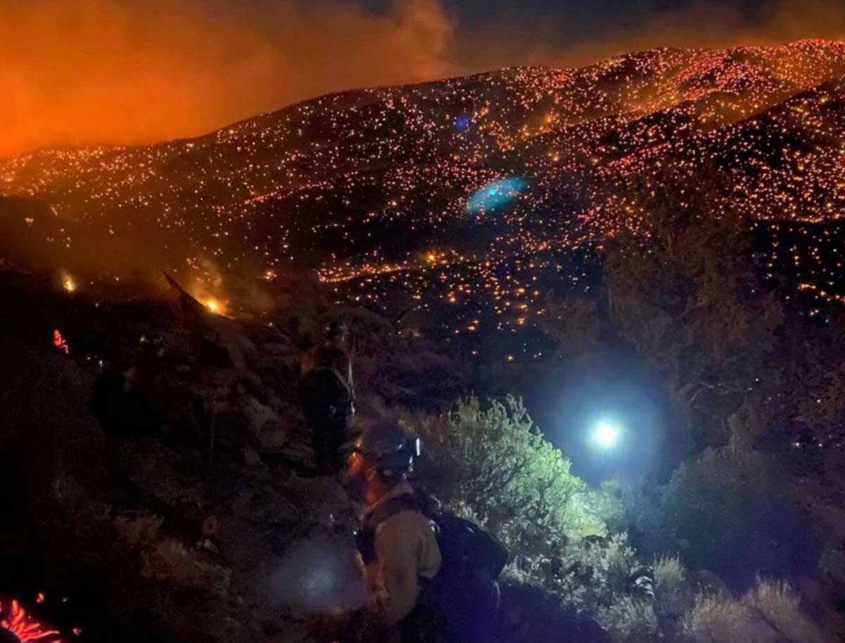 Numbers Fire Nevada wildfire Carson City Minden
