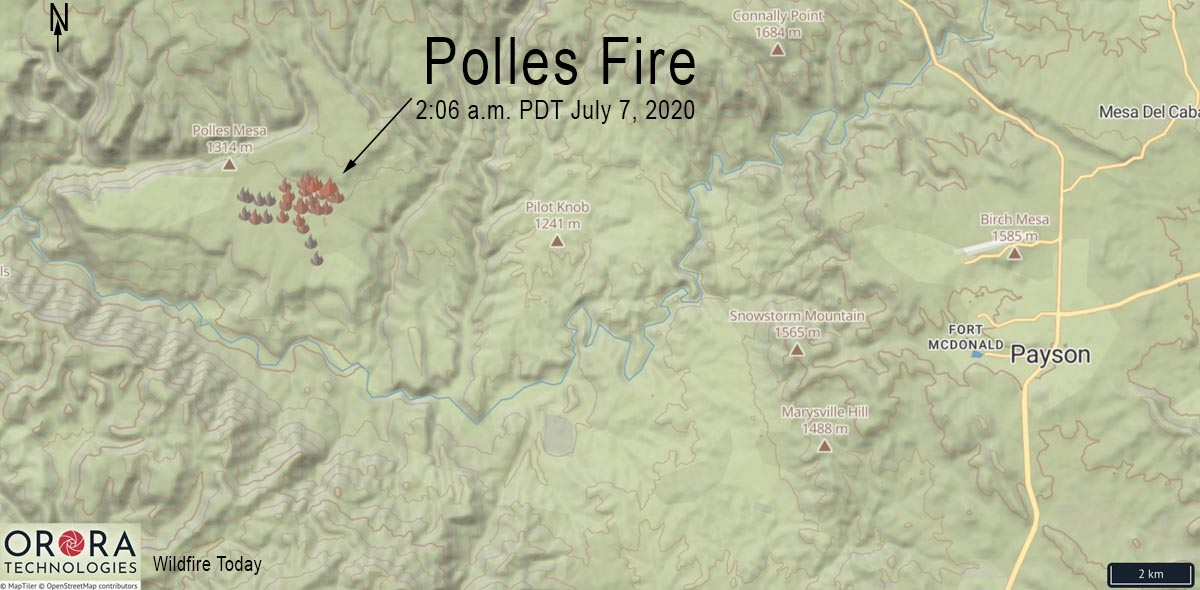 Map helicopter crash Arizona Payson Polles Fire