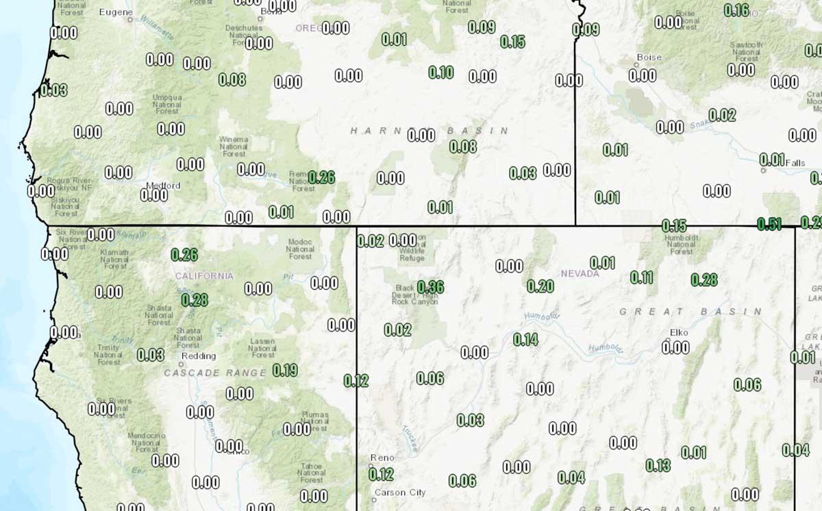 precipitation 48 hour period