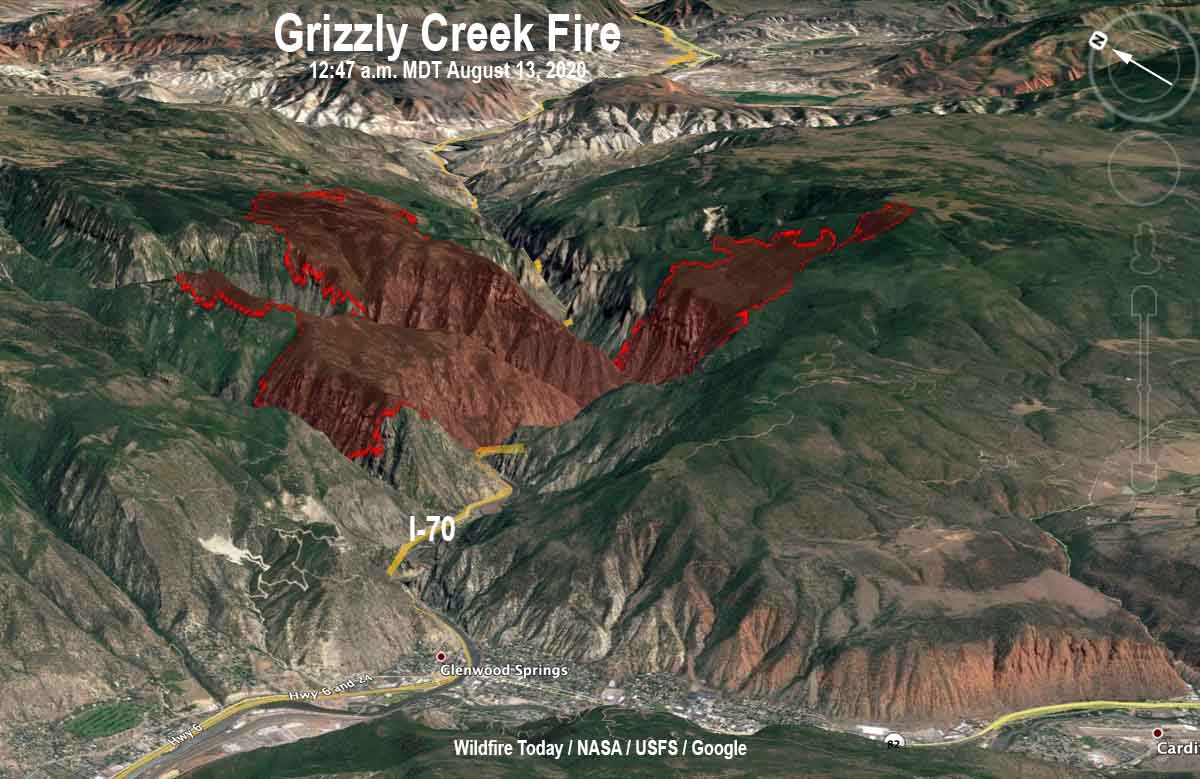 3-D Map of the Grizzly Creek Fire