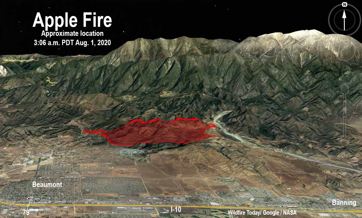 3-D Apple Fire map