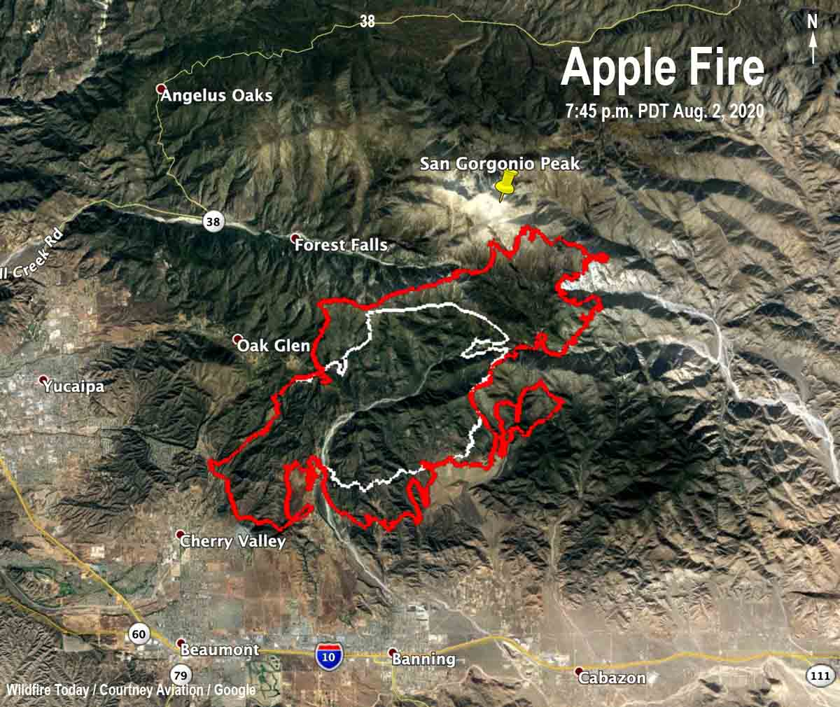 Map of the Apple Fire