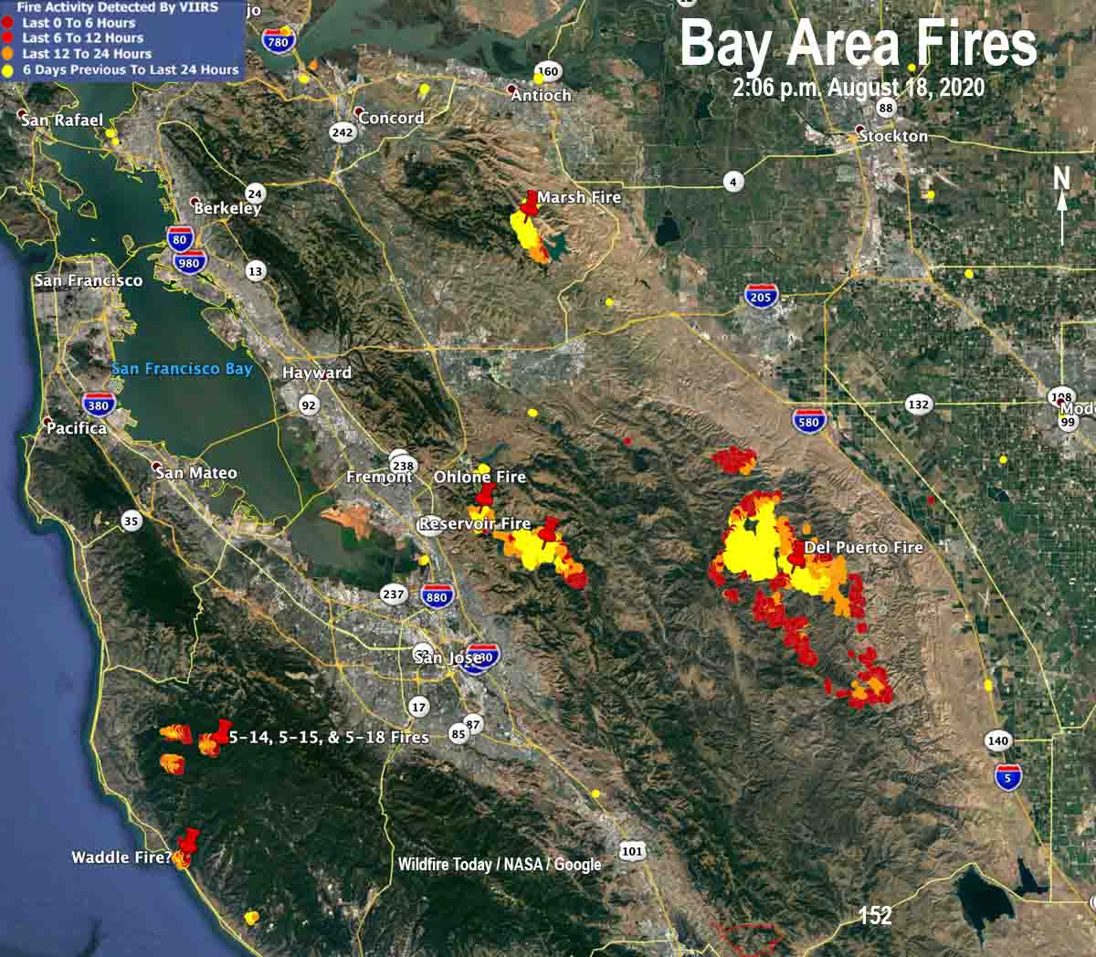Picture of: Lightning Ignites Fires In San Francisco Bay Area Wildfire Today