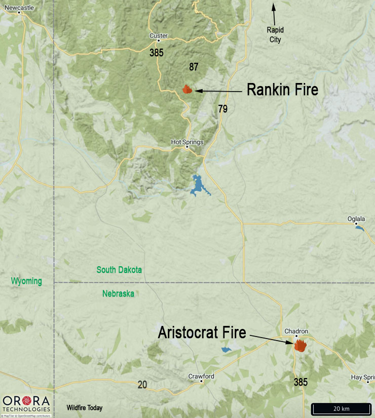 Black Hills Fires August 28, 2020