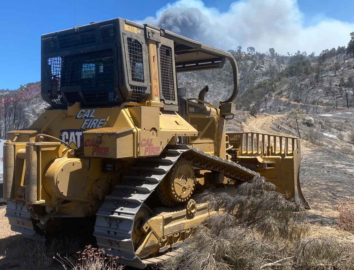 CAL FIRE Dozer 1743 on the Stagecoach Fire