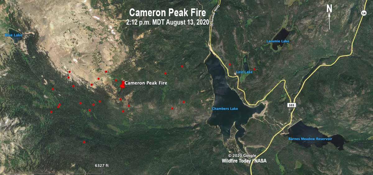 Cameron Peak Fire map