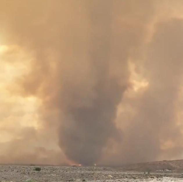 Fire tornado Loyalton Fire
