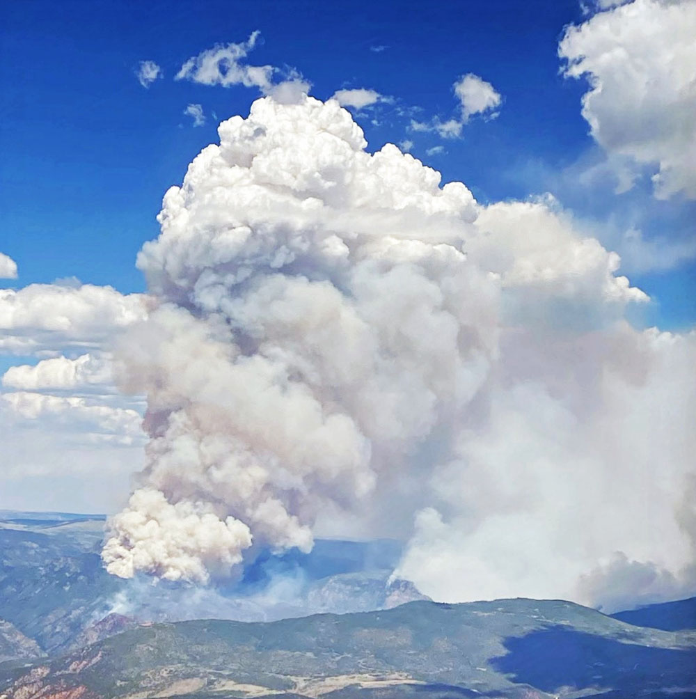 Grizzly Creek Fire pyrocumulus