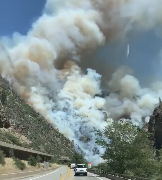 Grizzly Creek Fire near Glenwood Springs