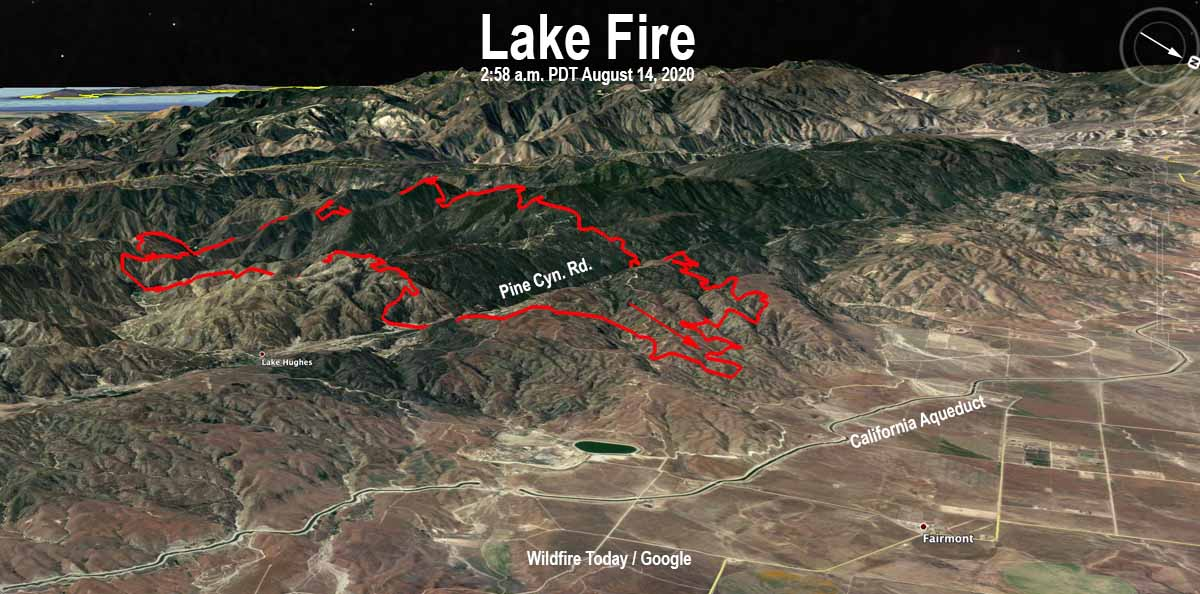 Map of the Lake Fire