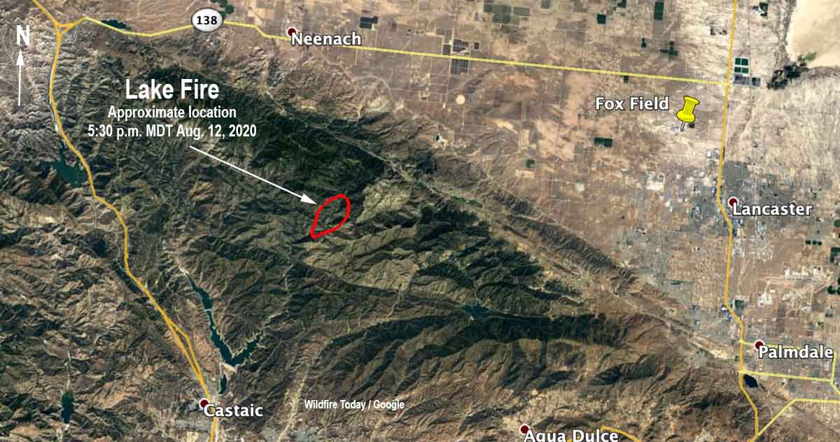 map Lake Fire Lake Hughes California