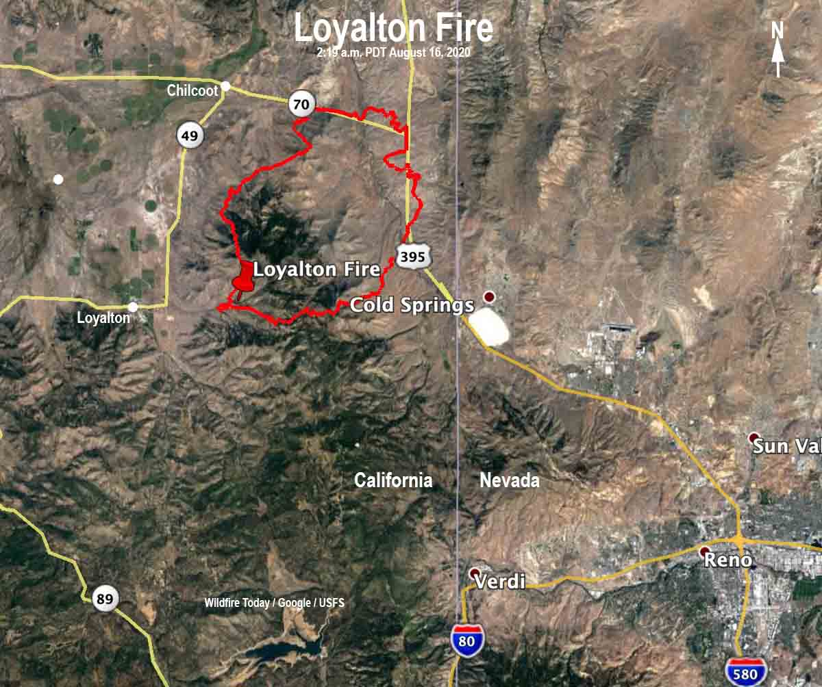 Loyalton Fire map