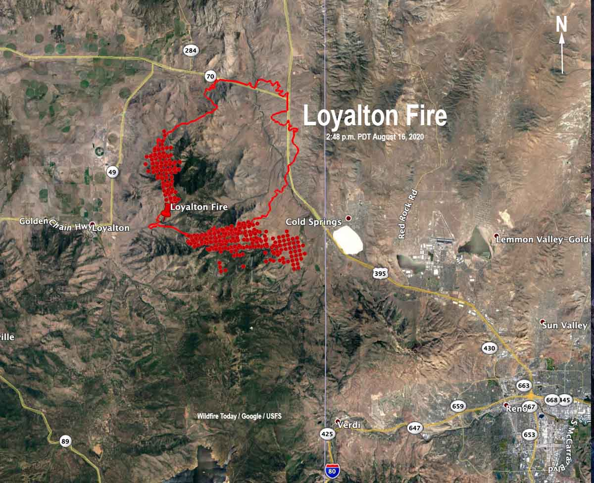 map Loyalton Fire California Reno Nevada